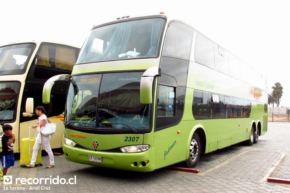 ctyz86 - 2307 - tur bus - paradiso 1800 dd - la serena - san pedro de atacama - cama premium