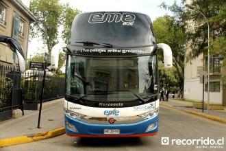 eme bus - 137 - paradiso 1800 dd - scania - 8x2 - hrjs95 - recorridocl - providencia 225