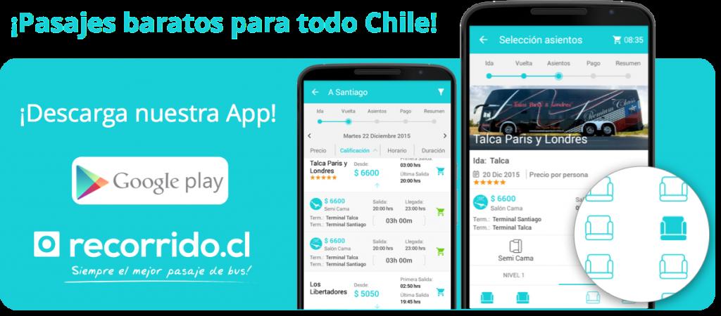 Pasajes de bus baratos a todo Chile