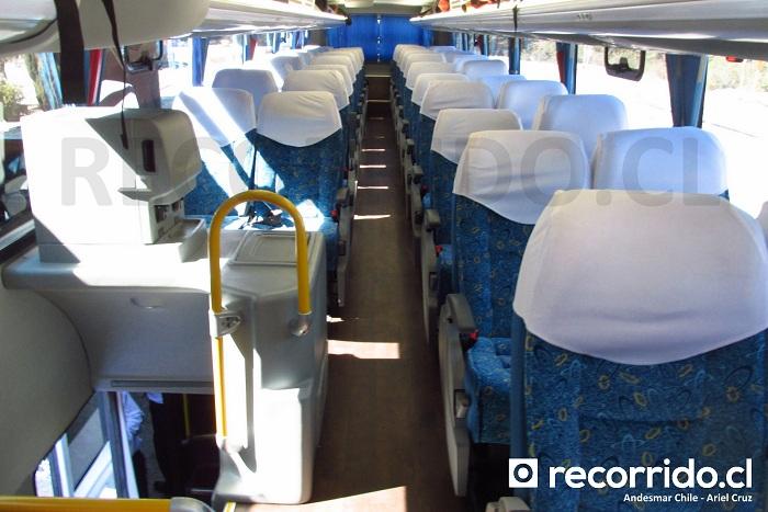 2º Piso del bus Andesmar Chile, modelo Comil Campione DD