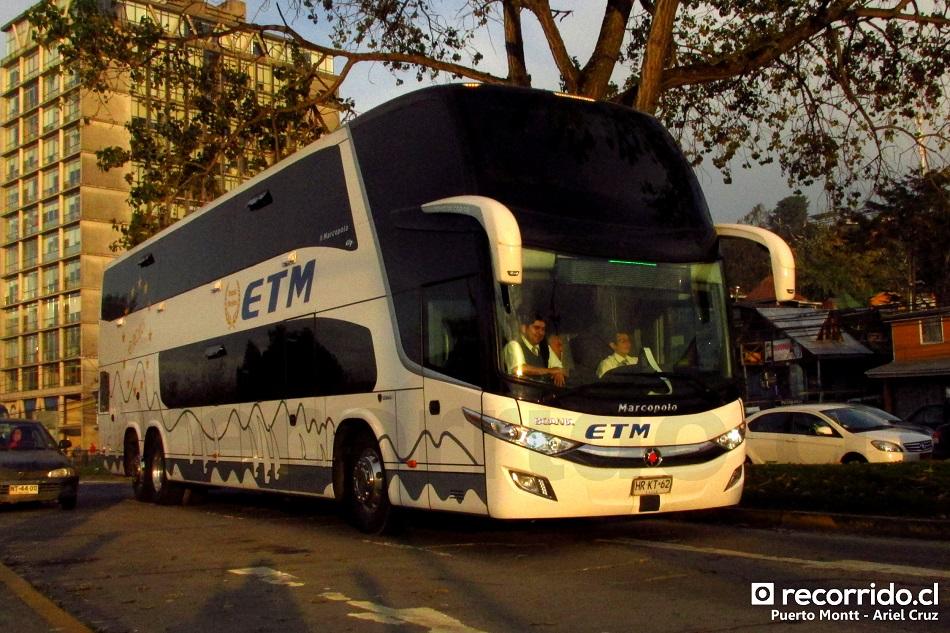 Bus de la empresa ETM llegando a Puerto Montt