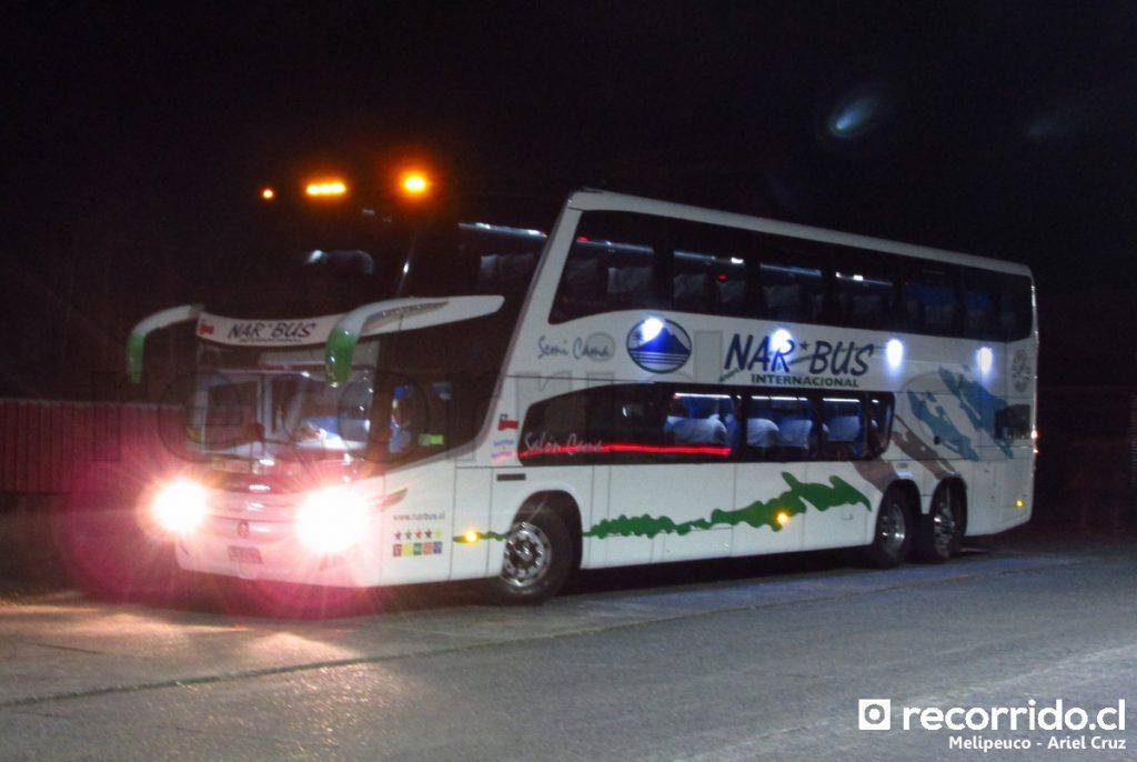 Bus de NarBus en Melipeuco
