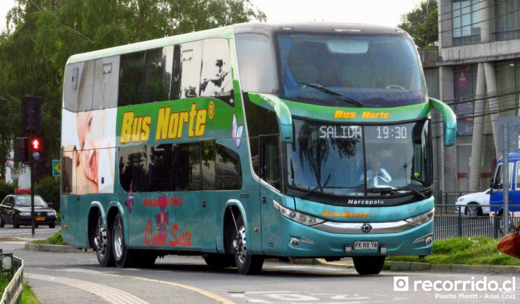Bus Norte, servicio Cama Suite llegando a Puerto Montt