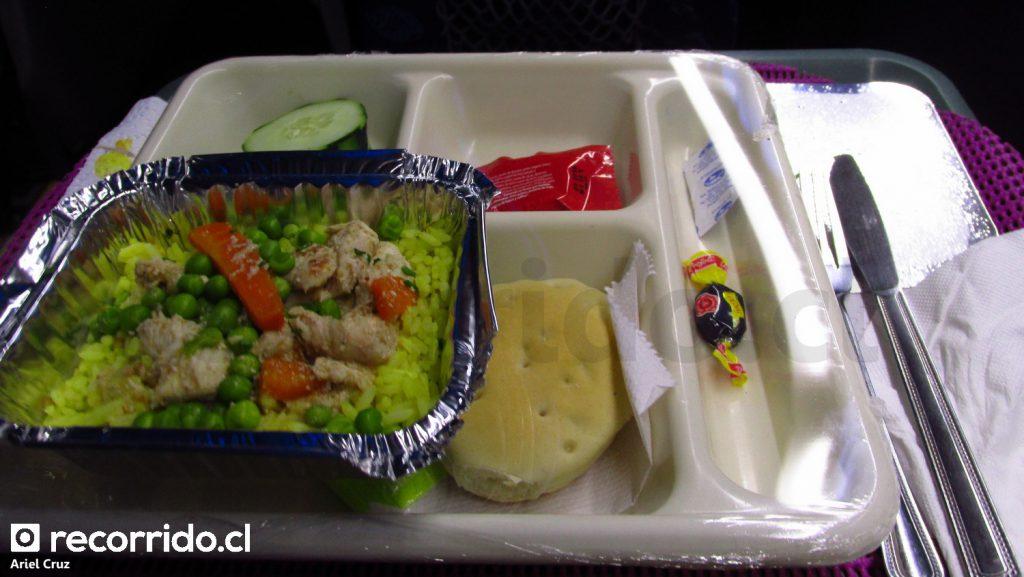Cena en servicio Cama Suite de Bus Norte
