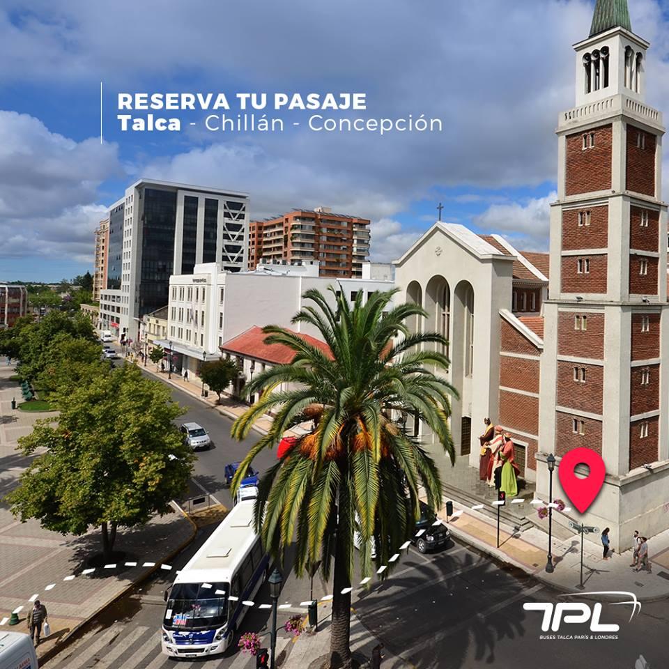 Nuevo servicio Talca - Chillán - Concepción de Talca París & Londres