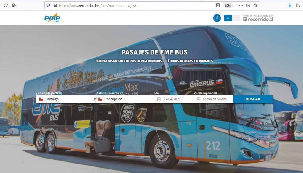 Recorrido.cl EME Bus
